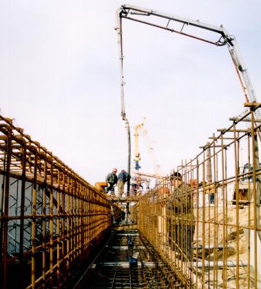 Hidrotechniniai betonavimo darbai